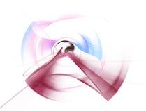 Ejemplo generado por ordenador del extracto del fractal de un carmesí esférico y azul Fotografía de archivo libre de regalías