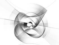 Ejemplo generado por ordenador del fractal de un negro esférico Foto de archivo