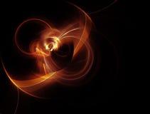 Ejemplo generado por ordenador del fractal de una naranja esférica Foto de archivo libre de regalías