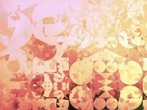 Ejemplo geométrico abstracto del fondo del oro Foto de archivo libre de regalías