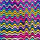Ejemplo geométrico coloreado pintada del vector de los objetos stock de ilustración