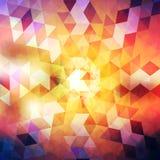 Ejemplo geométrico del fondo del estilo abstracto del grunge Fotografía de archivo libre de regalías