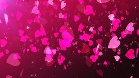 Ejemplo girante de los corazones del amor ilustración del vector