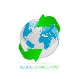 Ejemplo global de las conexiones Foto de archivo libre de regalías