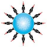 Ejemplo global del concepto de las vacaciones de invierno Foto de archivo libre de regalías