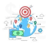 Ejemplo global del concepto del pago ilustración del vector