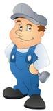 Fontanero - personaje de dibujos animados - ejemplo del vector Imágenes de archivo libres de regalías