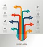 Ejemplo gráfico de los elementos de la plantilla de Infographic. Foto de archivo