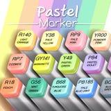 Ejemplo gráfico realista en colores pastel del vector del rotulador Fotografía de archivo libre de regalías