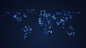 Ejemplo gr?fico de la tecnolog?a de Digitaces de la red del mapa del mundo ilustración del vector