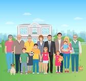 Ejemplo grande de la familia libre illustration