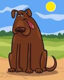 Ejemplo grande de la historieta del perro de Brown libre illustration