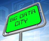 Ejemplo grande de la muestra 3d de City Road de los datos stock de ilustración