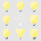 Ejemplo gris amarillo del icono de la bombilla de la lámpara de la idea Imágenes de archivo libres de regalías
