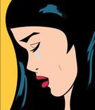 Ejemplo gritador triste de la mujer ilustración del vector