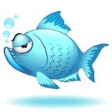Ejemplo gruñón divertido del vector del personaje de dibujos animados de los pescados - 1 ilustración del vector