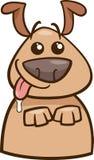 Ejemplo hambriento de la historieta del perro del humor stock de ilustración