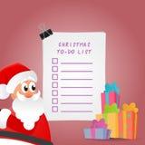 Ejemplo hermoso de la lista de lío de la Navidad Fotografía de archivo libre de regalías