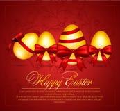 Ejemplo hermoso del vector de los huevos de Pascua Imagen de archivo libre de regalías