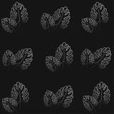 Ejemplo hermoso del vector del modelo de las hojas de palma de la impresión foto de archivo