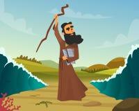 Ejemplo histórico del vector de la historia bíblica stock de ilustración