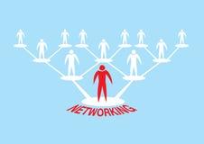 Ejemplo humano del vector de la jerarquía del establecimiento de una red del icono Fotografía de archivo