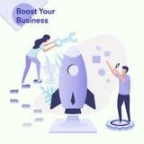 Ejemplo impulsar su negocio ilustración del vector