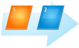 Ejemplo inclinado diagrama en blanco de la secuencia del negocio dos Imágenes de archivo libres de regalías