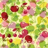 Ejemplo inconsútil con la fruta semitransparente Foto de archivo libre de regalías