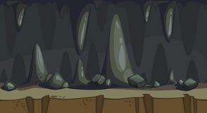 Ejemplo inconsútil de la cueva ilustración del vector