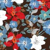 Ejemplo inconsútil de la flor de la primavera Imágenes de archivo libres de regalías