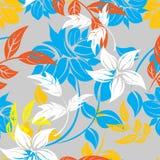 Ejemplo inconsútil de la flor de la primavera Foto de archivo libre de regalías