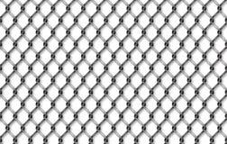 Ejemplo inconsútil de la red del hierro Fondo neto de la cerca del metal stock de ilustración