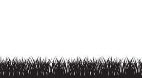 Ejemplo inconsútil del vector de la silueta de la hierba Foto de archivo libre de regalías
