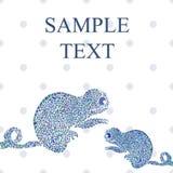 Ejemplo inconsútil del vector del camaleón Fotos de archivo