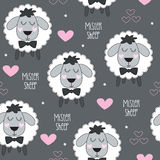 Ejemplo inconsútil del vector del modelo del cordero de las ovejas del señor stock de ilustración