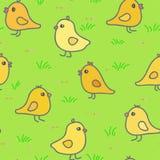 Ejemplo inconsútil del vector del modelo de los pollos Imágenes de archivo libres de regalías