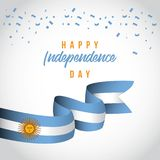 Ejemplo independiente feliz del dise?o de la plantilla del vector del d?a de la Argentina libre illustration