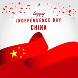 Ejemplo independiente feliz del dise?o de la plantilla del vector del d?a de China libre illustration