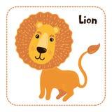Ejemplo infantil lindo del vector del león imagenes de archivo