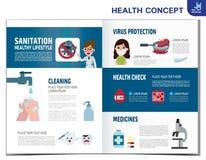 Ejemplo infographic del dise?o del elemento del vector m?dico de la salud libre illustration