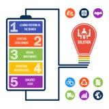¡Ejemplo infographic del negocio + 9 iconos de la prima! libre illustration