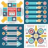 Ejemplo infographic del vector del concepto de las plantillas del negocio Conjunto abstracto de la bandera Colección de la dispos Fotografía de archivo libre de regalías