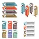 Ejemplo infographic del vector del concepto de las plantillas del negocio Conjunto abstracto de la bandera Colección de la dispos Fotos de archivo libres de regalías