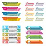 Ejemplo infographic del vector del concepto de las plantillas del negocio Conjunto abstracto de la bandera Colección de la dispos Imágenes de archivo libres de regalías