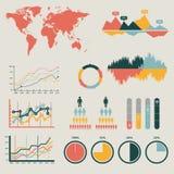 Ejemplo infographic del vector del detalle. Gráficos del mapa del mundo y de la información Fotografía de archivo