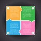 Ejemplo Infographic del vector para el diseño y el trabajo creativo Imágenes de archivo libres de regalías
