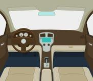 Ejemplo interior del vector del coche Imagenes de archivo