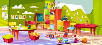 Ejemplo interior del vector del sitio de la guardería libre illustration