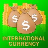 Ejemplo internacional del intercambio 3d de las divisas de los medios de la moneda ilustración del vector